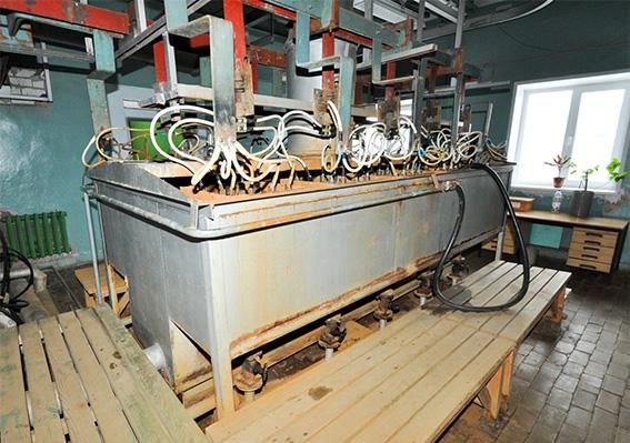 Сбор кислотных стоков в подвале корпуса № 1