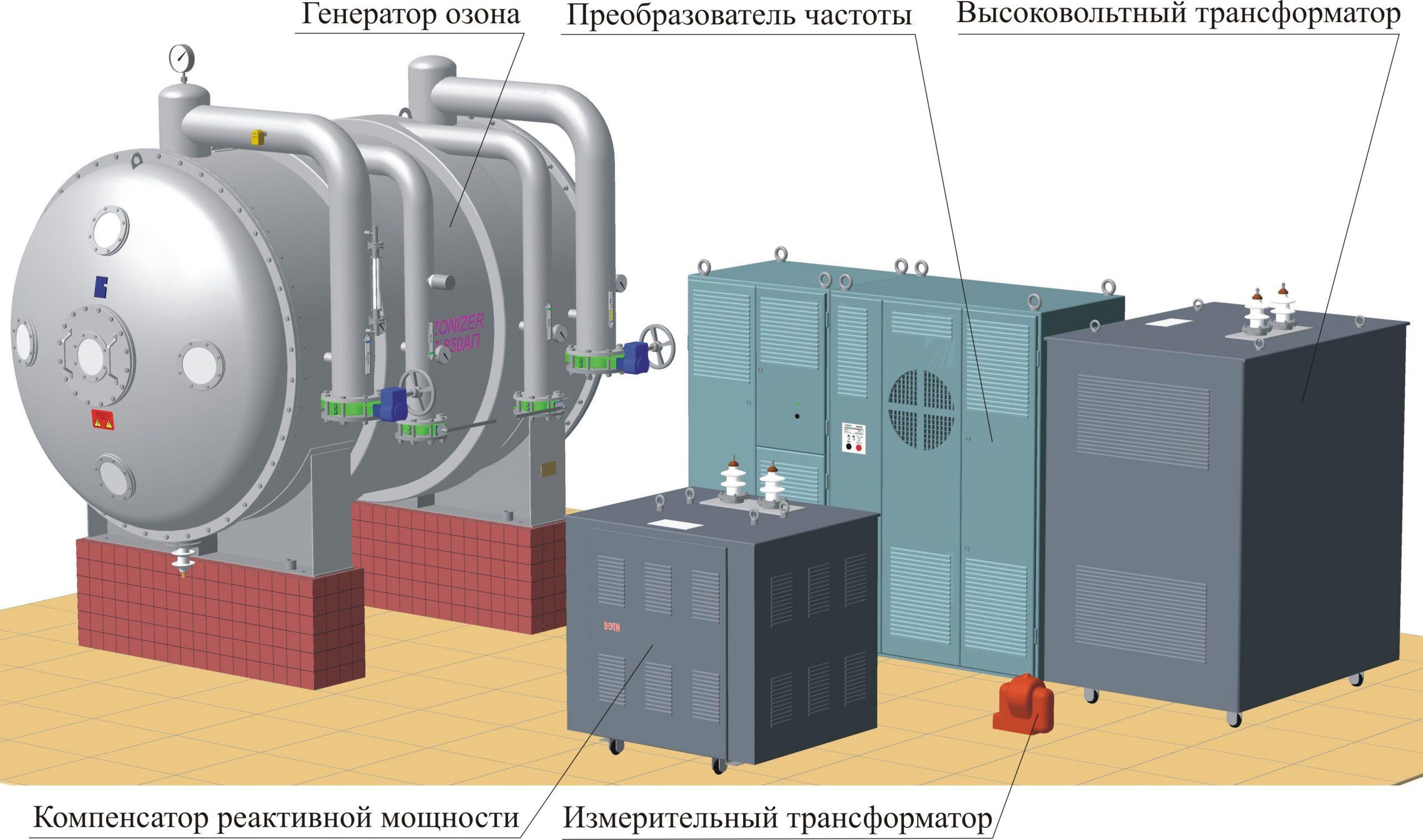 Станция озонирования воды